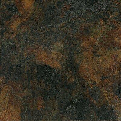 "Marazzi Imperial Slate 12"" x 12"" Field Tile in Black"