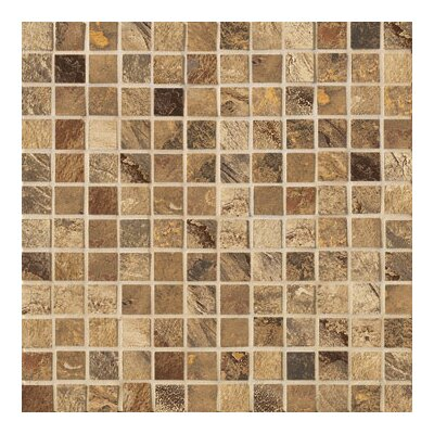 "Marazzi Jade 1"" x 1"" Decorative Square Mosaic in Chestnut"