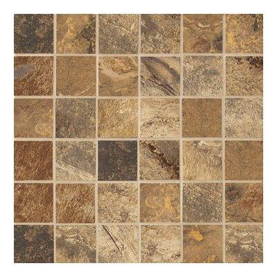 "Marazzi Jade 2"" x 2"" Decorative Square Mosaic in Chestnut"