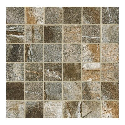 "Marazzi Vesale Stone 13"" x 13"" Decorative Square Mosaic in Moss"