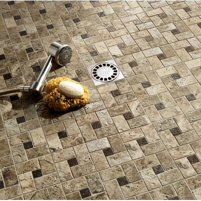 "Marazzi Archaeology 13"" x 13"" ColorBody Porcelain Glass Pinwheel Mosaic in Troy"