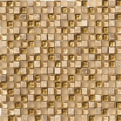 Crystal Stone Glass/Stone Mosaic in Gold