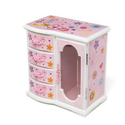 Kelly Girl's Upright Musical Ballerina Jewelry Box