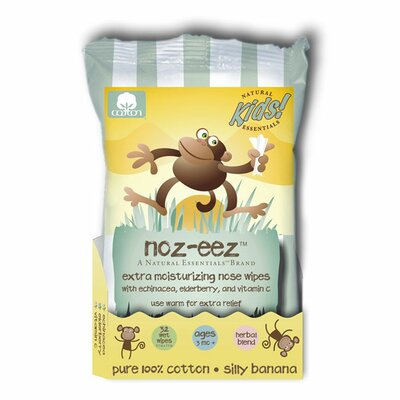 Natural Essentials Natural Essentials Noz-Eez Silly Banana Nose Wipes