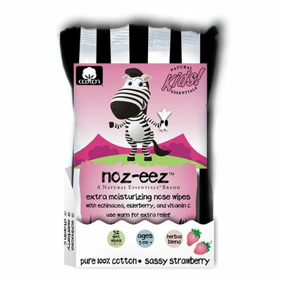 Natural Essentials Natural Essentials Noz-Eez Sassy Strawberry Nose Wipes