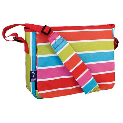 Wildkin Ashley Bright Stripes Kickstart Messenger Bag