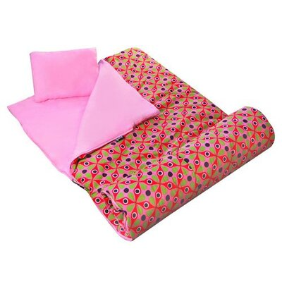 Wildkin Kaleidoscope Sleeping Bag in Pink