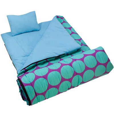 Wildkin Big Dots Aqua Sleeping Bag