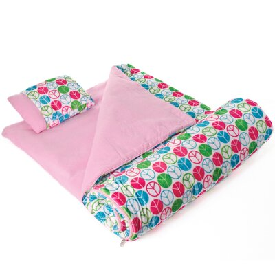 Ashley Peace Signs Plush Sleeping Bag