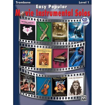 Alfred Publishing Company Easy Popular Movie Instrumental Solos Trombone