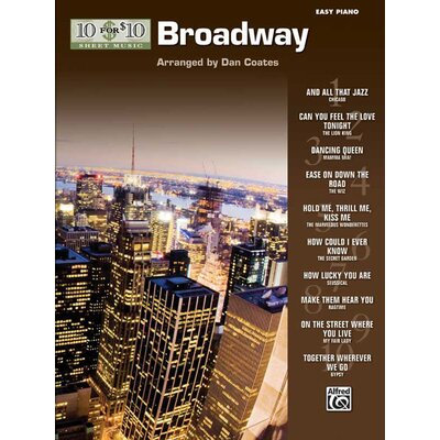 Alfred Publishing Company 10 for 10 Sheet Music: Broadway