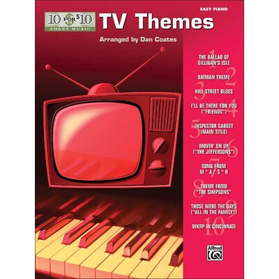 Alfred Publishing Company 10 for 10 Sheet Music: TV Themes