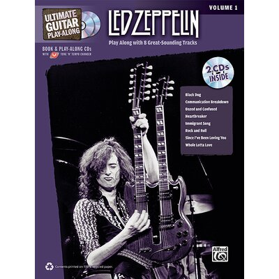 Alfred Publishing Company Ultimate Guitar Play-Along: Led Zeppelin, Volume 1 Play Along with 8 Great-Sounding Tracks