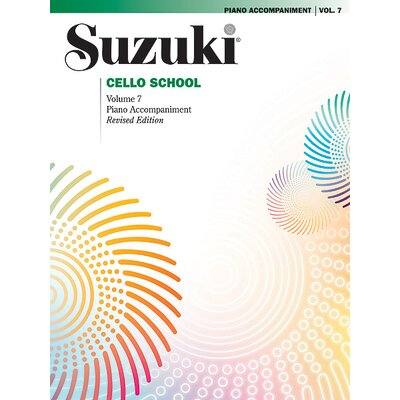 Alfred Publishing Company Suzuki Cello School Piano Acc., Volume 7
