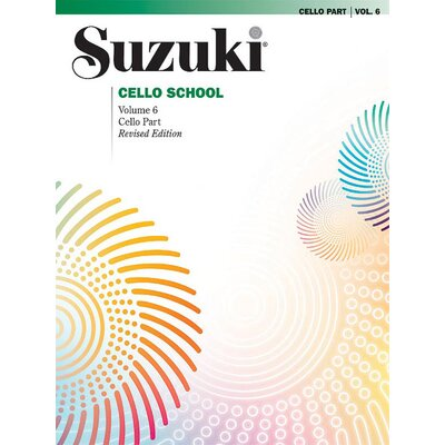 Alfred Publishing Company Suzuki Cello School Cello Part, Volume 6