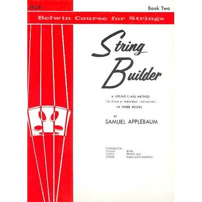 Alfred Publishing Company String Builder: Cello (Book II)