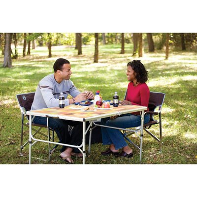 Coleman Table Packaway Folding Mosaic