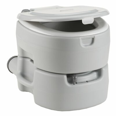 Large Portable Flush Round 1 Piece Toilet