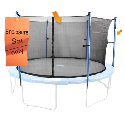 14' 41 Piece Round Trampoline Enclosure Set for 4/8 W Legs