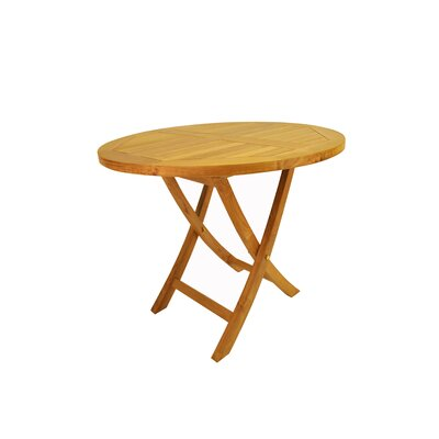 "Anderson Teak Bahama 35"" Round Bistro Folding Table"