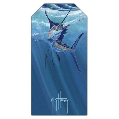 Fiberbuilt Guy Harvey Chasing Sailfish Beach Towel