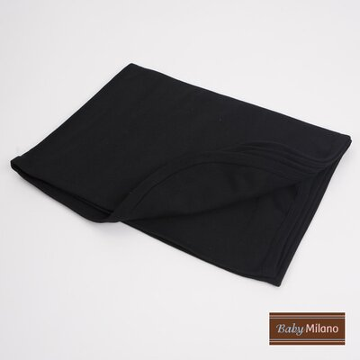 Baby Milano Baby Receiving Blanket in Black