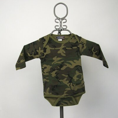 Long Sleeve Infant Bodysuit in Camouflage