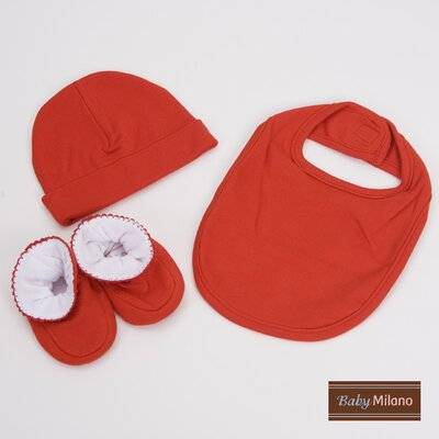3 Piece Baby Gift Set for Boy or Girl in Red