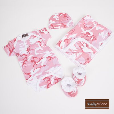 Baby Clothes Deluxe Gift Set in Pink Camouflage