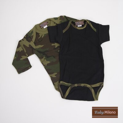Infant Bodysuit Gift Set in Green Camo