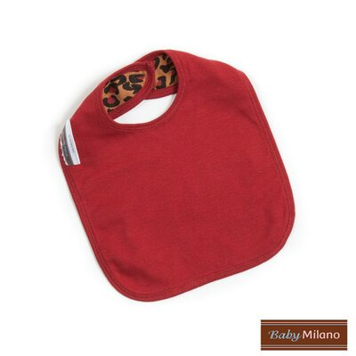Baby Milano Bib and Burp Cloth in Leopard Print