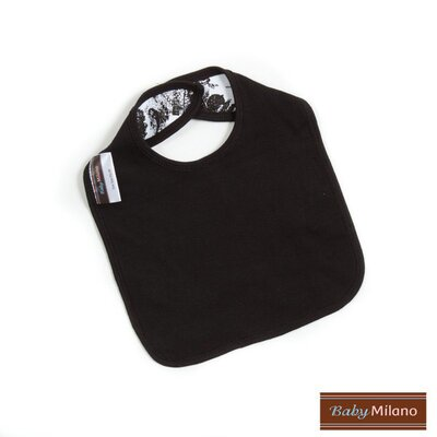 Baby Milano Bib and Burp Cloth Gift Set in Black Toile