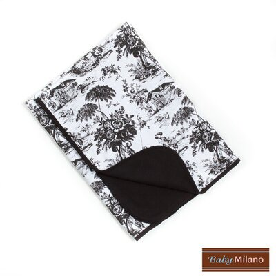 Baby Milano Baby Blanket in Black Toile