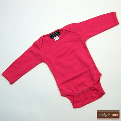 Baby Milano Long Sleeve Infant Bodysuit in Hot Pink