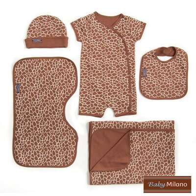 5 Piece Gift Set in Giraffe Print