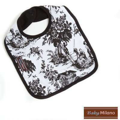 Baby Milano Bib in Black Toile