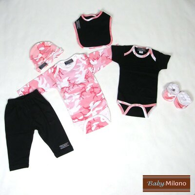 6 Piece Clothes Gift Set for Girls in Pink Camouflage