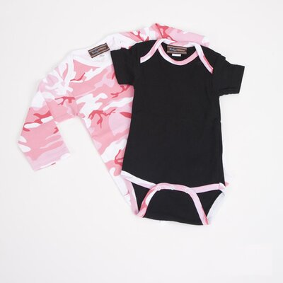 Infant Bodysuit Gift Set in Pink Camo