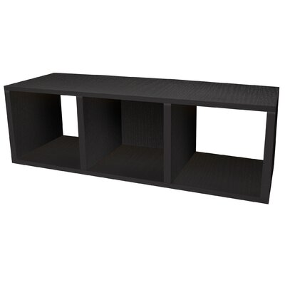 Way Basics Eco-Friendly Cozy Bench in Black