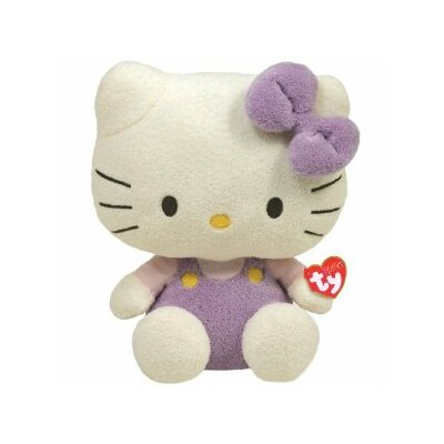 "TY Beanie Babies 10"" Hello Kitty in Lavender"