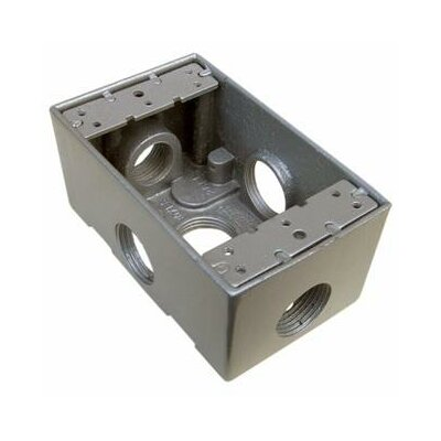 "Morris Products 2.75"" Weatherproof Boxes in Gray with 5 Outlet Holes"