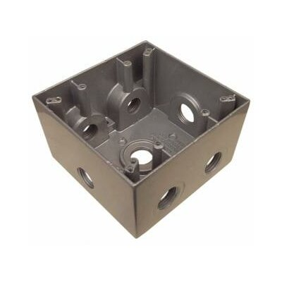 Morris Products Weatherproof Boxes in Gray with 7 Outlet Holes