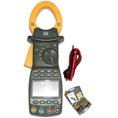 Morris Products Cat III TRMS Auto Ranging Three Phase Digital Power Clamp Meter