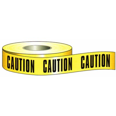 "Morris Products 3"" x 200' Barricade Caution Tape in Yellow"