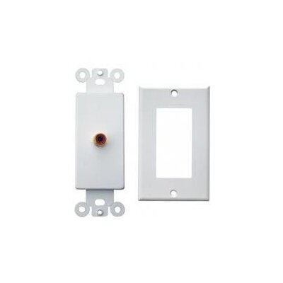 Morris Products Single RCA Sound System Plates in White