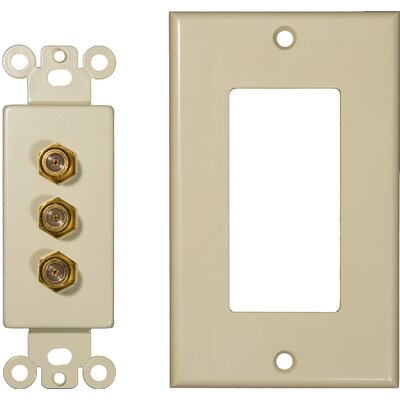 Morris Products Triple Coax Sound System Plates in Ivory
