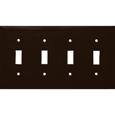 Morris Products 4 Gang Lexan Wall Plates for Toggle Switch in Brown
