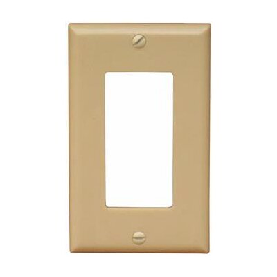 Morris Products 1 Gang Oversize Decorative / GFCI Lexan Wall Plates in Ivory