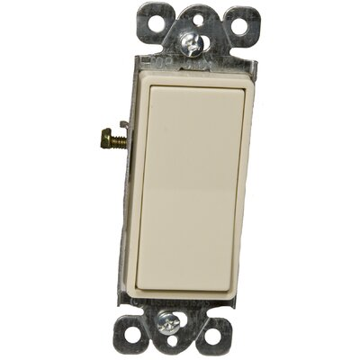 Morris Products 15A 120-277V Momentary Contact Garbage Disposal Decorator Switch in Ivory