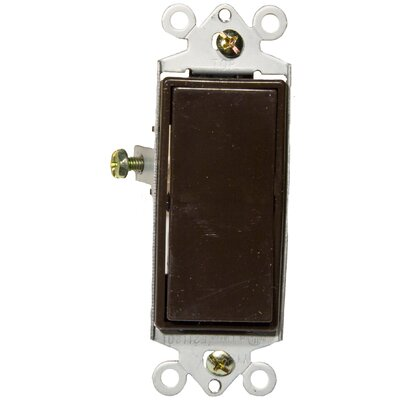Morris Products 15A-120/277V Single Pole Decorator Switches in Brown